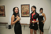 Fuel girls:Naomi, Amy and Vanessa.  The BladeRun Send-off party. The Henry Moore Gallery SW7, Royal College of Art. 16 August 2006.  ONE TIME USE ONLY - DO NOT ARCHIVE  © Copyright Photograph by Dafydd Jones 66 Stockwell Park Rd. London SW9 0DA Tel 020 7733 0108 www.dafjones.com