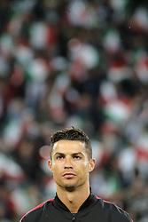 May 19, 2019 - Turin, Turin, Italy - Cristiano Ronaldo #7 of Juventus FC looks on before the serie A match between Juventus FC and Atalanta BC at Allianz Stadium on May 19, 2019 in Turin, Italy. (Credit Image: © Giuseppe Cottini/NurPhoto via ZUMA Press)