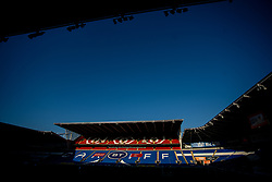 CARDIFF, WALES - Monday, March 29, 2021: A general view of the stadium during a Czech Republic training session at the Cardiff City Stadium ahead of the FIFA World Cup Qatar 2022 Qualifying Group E game against Wales. (Pic by David Rawcliffe/Propaganda)