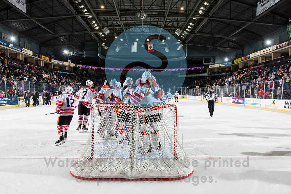 The Youngstown Phantoms defeat Team USA 6-3 at the Covelli Centre on November 16, 2019.<br /> <br /> Colin Purcell, goalie, 1