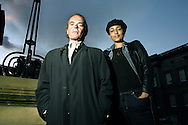 Bestselling English authors Martin Amis and Zadie Smith pictured at the Old Quad at the University of Edinburgh, Scotland where they jointly won the James Tait Black Memorial Prize, the UK's oldest literature award for their most recent works.