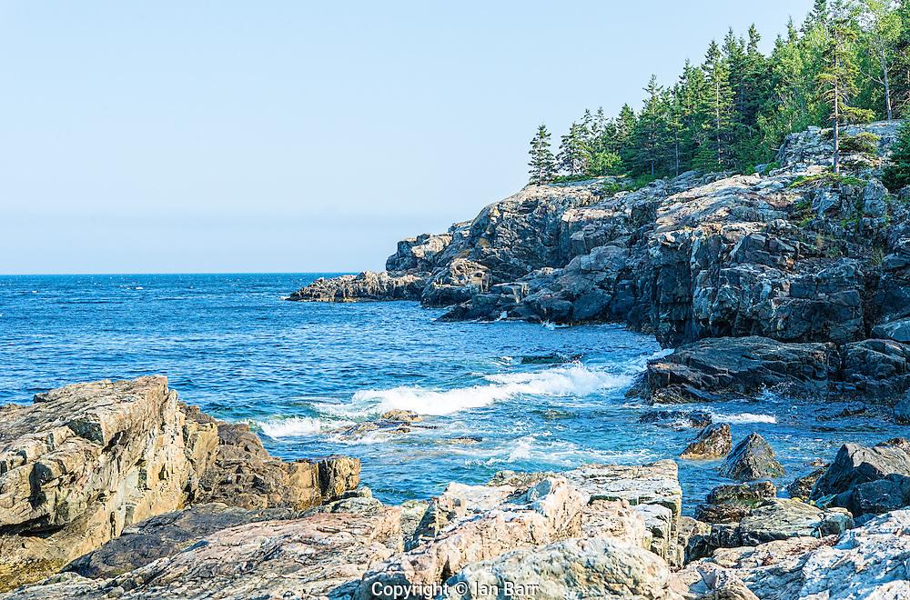 Acadia National Park Rocky coastline,Maine,USA.