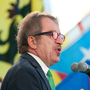 "Roberto Maroni addresses  participants during today Lega Nord rally in Venice under the slogan ""Prima Il Nord""  (North First)  the Lega Nord with its new Secretary Roberto Maroni are trying to go back to their  1996 meeting in Venice with its original federalist credo"