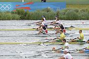 Eton Dorney, Windsor, Great Britain,..2012 London Olympic Regatta, Dorney Lake. Eton Rowing Centre, Berkshire[ Rowing]...Description;  Heat, Men's double Sculls: .Luka SPIK (b) , Iztok COP (s).LTU.M2X Rolandas MASCINSKAS (b) , Saulius .GBR M2X Bill LUCAS (b) , Sam TOWNSEND (s).NOR.M2X Nils Jakob HOFF (b) , Kjetil BORCH (s).FRA.M2X Julien BAHAIN (b) , Cedric BERREST (s).CAN M2X Michael BRAITHWAITE (b) , Kevin KOWALYK (s)..Dorney Lake. 12:30:06  Tuesday  31/07/2012.  [Mandatory Credit: Peter Spurrier/Intersport Images].Dorney Lake, Eton, Great Britain...Venue, Rowing, 2012 London Olympic Regatta...