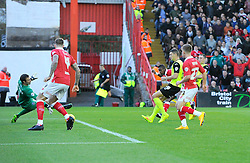 Bristol City's Kieran Agard scores  - Photo mandatory by-line: Joe Meredith/JMP - Mobile: 07966 386802 - 01/11/2014 - SPORT - Football - Bristol - Ashton Gate - Bristol City v Oldham Athletic - Sky Bet League One