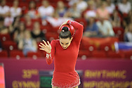 Andrea Kheilova, Czech Republic, during day one of the 33rd European Rhythmic Gymnastics at Papp Laszlo Budapest Sports Arena, Budapest, Hungary on 19 May 2017. Photo by Myriam Cawston.