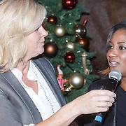 NLD/Amsterdam/20151126 - Perspresentatie The Christmas Show, Irene Moors en Edsilia Rombley