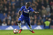 Ngolo Kante of Chelsea in action. The Emirates FA cup, 3rd round match, Chelsea v Peterborough Utd at Stamford Bridge in London on Sunday 8th January 2017.<br /> pic by John Patrick Fletcher, Andrew Orchard sports photography.