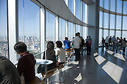 View from Mori Tower in Roppongi Hills Tokyo looking towards Shinjuku