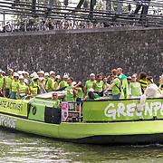 NLD/Amsterdam/20180604 - Gaypride 2018, Greenpeace boot