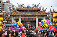 Chinese Lunar New Year 2011 at Longshan Temple in Taipei, Taiwan.