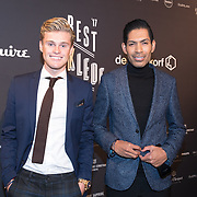 NLD/Amsterdam/20171114 - Esquire's Best Dressed Man 2017, Kaj van der Voort en stylist Giovanni Laisina