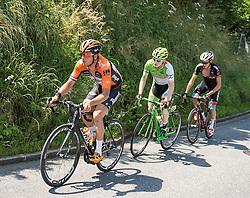 07.07.2015, Windischgarsten, AUT, Österreich Radrundfahrt, 3. Etappe, Windischgarsten nach Judendorf, im Bild v.l. Johnny Hoogerland (NED), Michael Gogl (AUT), Dominik Hrinkow (AUT) // f.l.t.r. Johnny Hoogerland of Nederlands Michael Goglof Austria Dominik Hrinkow of Austria during the Tour of Austria, 3rd Stage, from Windischgarsten to Judendorf, Windischgarsten, Austria on 2015/07/07. EXPA Pictures © 2015, PhotoCredit: EXPA/ Reinhard Eisenbauer