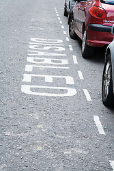 Parking bay reserved for people with a disability,