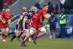 Joe Batley of Bristol Rugby runs with the ball - Mandatory by-line: Robbie Stephenson/JMP - 13/01/2018 - RUGBY - Castle Park - Doncaster, England - Doncaster Knights v Bristol Rugby - B&I Cup