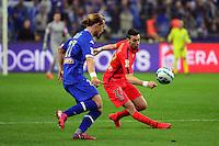 Javier PASTORE / Guillaume GILLET    - 11.04.2015 -  Bastia / PSG - Finale de la Coupe de la Ligue 2015<br />Photo : Dave Winter / Icon Sport