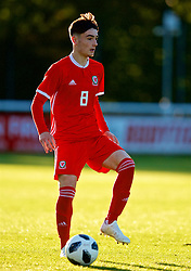 BANGOR, WALES - Monday, October 15, 2018: Wales' Brandon Cooper during the UEFA Under-19 International Friendly match between Wales and Poland at the VSM Bangor Stadium. (Pic by Paul Greenwood/Propaganda)