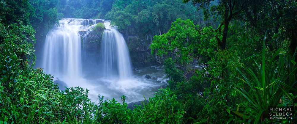 A beautiful waterfall near the Atherton Tablelands, captured in the monsoon (wet) season.<br /> <br /> Code: CAQT0010<br /> <br /> Limited Edition Print