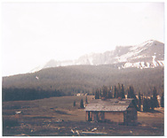 North side (front) of abandoned RGS section house at Lizard Head.<br /> RGS  Lizard Head, CO  ca. ? + 1953