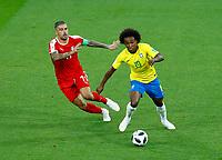 Aleksandar Kolarov (Serbia)  and Willian (Brazil)<br /> Moscow 27-06-2018 Football FIFA World Cup Russia  2018 <br /> Serbia - Brazil / Serbia - Brasile<br /> Foto Matteo Ciambelli/Insidefoto