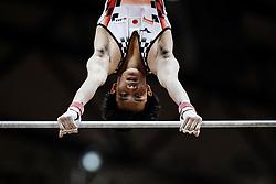October 29, 2018 - Doha, Qatar - Yusuke Tanaka of Japan   during  High Bar, Team final for Men at the Aspire Dome in Doha, Qatar, Artistic FIG Gymnastics World Championships on October 29, 2018. (Credit Image: © Ulrik Pedersen/NurPhoto via ZUMA Press)
