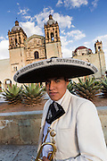 A mariachi musician dressed in traditional charro costumes November 5, 2013 in Oaxaca, Mexico.
