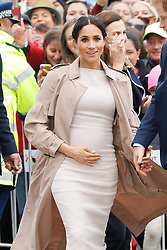 The Duchess of Sussex during a walkabout in Auckland, New Zealand, on day three of the royal couple's tour of New Zealand.
