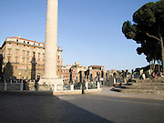 Italy, Rome, Colonna Traiana (Trajan's Column) Monumento a Vittorio Emanuele II in the background