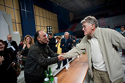 CONFERENZA STAMPA.BARI 12 NOVEMBRE 2010.IL VILLAGGIO DI CARTONE.REGIA ERMANNO OLMI.