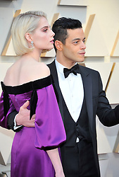 91st Annual Academy Awards - Arrivals. 24 Feb 2019 Pictured: Rami Malek, Lucy Boynton. Photo credit: Jaxon / MEGA TheMegaAgency.com +1 888 505 6342