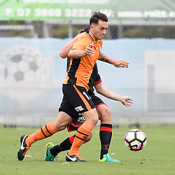 BRISBANE, AUSTRALIA - DECEMBER 10: Nicholas Panetta of the Roar controls the ball during the round 5 Foxtel National Youth League match between the Brisbane Roar and Adelaide United at AJ Kelly Field on December 10, 2016 in Brisbane, Australia. (Photo by Patrick Kearney/Brisbane Roar)
