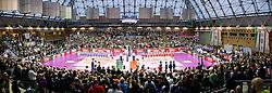 20-03-2016 ITA: Finale Coppa Italia A1 Foppapedretti Bergamo - Nordmeccanica Piacenza, Ravenna<br /> Foppapedretti Bergamo heeft met klinkende cijfers de Italiaanse beker binnengehaald. In Ravenna werd Piacenza met 3-0 verslagen / De prachtige sporthal Pala De Andrè di Ravenna<br /> <br /> ***NETHERLANDS ONLY***