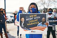Reverend Raphael Warnock and Jon Ossoff campaign in Atlanta at IBEW Union Hall