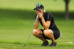 May 26, 2018 - Ann Arbor, Michigan, United States - Madelene Sagstrom lines up her putt on the 5th green during the third round of the LPGA Volvik Championship at Travis Pointe Country Club, Ann Arbor, MI, USA Saturday, May 26, 2018. (Credit Image: © Amy Lemus/NurPhoto via ZUMA Press)