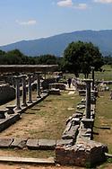 The Forum in Philippi near  Kavalla, Greece. <br /><br />Photo by Dennis Brack