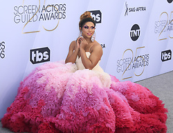 25??????????????.1?27???????????????? 'Shangela' Pierce ??????25????????????27???????????????????....(20190127) -- Los Angeles, Jan. 27, 2019  D.J. 'Shangela' Pierce arrives for the 25th Annual Screen Actors Guild Awards at the Shrine Auditorium in Los Angeles, the United States on January 27, 2019. (Credit Image: © Liying3/Xinhua via ZUMA Wire)
