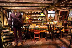 © Licensed to London News Pictures 27/02/2011 London, UK. .The Weasley family kitchen inside The Warner Brothers Studio Tour, Leavesden, Herts where all 8 Harry Potter movies were made and opens to the public this week..Photo credit : Simon Jacobs/LNP