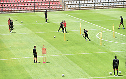 South Africa: Johannesburg: Orlando Pirates players during a training session at the Rand Stadium in preparation for the much anticipating Soweto derby on the weekend, Gauteng.<br />956<br />22.10.2018<br />Picture: Itumeleng English/African News Agency (ANA)