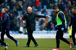 Burnley manager Sean Dyche gestures to a member of staff at half time during the Premier League match at Turf Moor, Burnley.