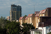 Skyline view of apartment buildings, Vilnius, Lithuania