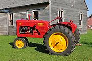 Antique or vintage tractors. Mennonite Museum, Steinbach, Manitoba. Canada<br /> Steinbach<br /> Manitoba<br /> Canada