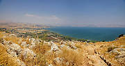 Mount Arbel Nature Reserve And National Park, Galilee, Israel overlooking the Sea o f Galilee