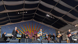 May 3, 2018 - New Orleans, Louisiana, U.S - LYLE LOVETT and His Large Band during 2018 New Orleans Jazz and Heritage Festival at Race Course Fair Grounds in New Orleans, Louisiana (Credit Image: © Daniel DeSlover via ZUMA Wire)