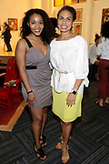 May 14, 2014- Harlem, New York-United States: (L-R) Chevon Sutton (no relation) and Kisha Sutton-James, VP, Inner City Broacasting the Harlem School of the Arts Jump and Wave Benefit held at the Harlem School of the Arts- The Herb Alpert Center on May 18, 2017 in Harlem, New York City. Harlem School of the Arts enriches the lives of young people and their families through world-class training in and exposure to the arts across multiple disciplines in an environment that emphasizes rigorous training, stimulates creativity, builds self-confidence, and adds a dimension of beauty to their lives.(Photo by Terrence Jennings/terrencejennings.com)