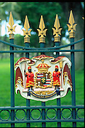 Hawaiian State Seal, Iolani Palace, Honolulu, Oahu,  Hawaii, USA<br />