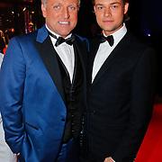 NLD/Amsterdam/20110124 - Uitreiking Beeld en Geluid awards 2010, Gordon Heuckeroth en partner Raoul van der Heijden