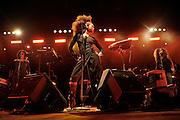 Cimiez, Nice. France. July 19th 2006..Erykah Badu performs at the Nice Jazz Festival (Scène Jardin)