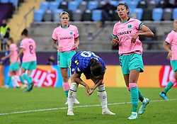 Chelsea's Sam Kerr rues a missed chance during the UEFA Women's Champions League final, at Gamla Ullevi, Gothenburg. Picture date: Sunday May 16, 2021.