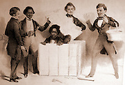 """With the help of a white friend, Samuel A. Smith, Henry Brown mailed himself to his family in Philadelphia and freedom.  He was dubbed Henry """"Box"""" Brown."""