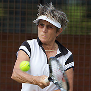 Michele Bichon, France, in action in the 65 Womens Singles  during the 2009 ITF Super-Seniors World Team and Individual Championships at Perth, Western Australia, between 2-15th November, 2009.
